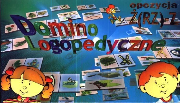 Gra - Domino logopedyczne Ż (RZ) - Z SAMO-POL ZAKŁADKA DO KSIĄŻEK GRATIS DO KAŻDEGO ZAMÓWIENIA