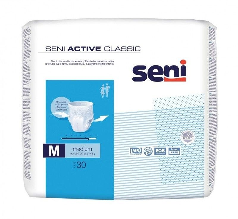 Seni Active Classic Majtki chłonne Medium (M), 30 sztuk