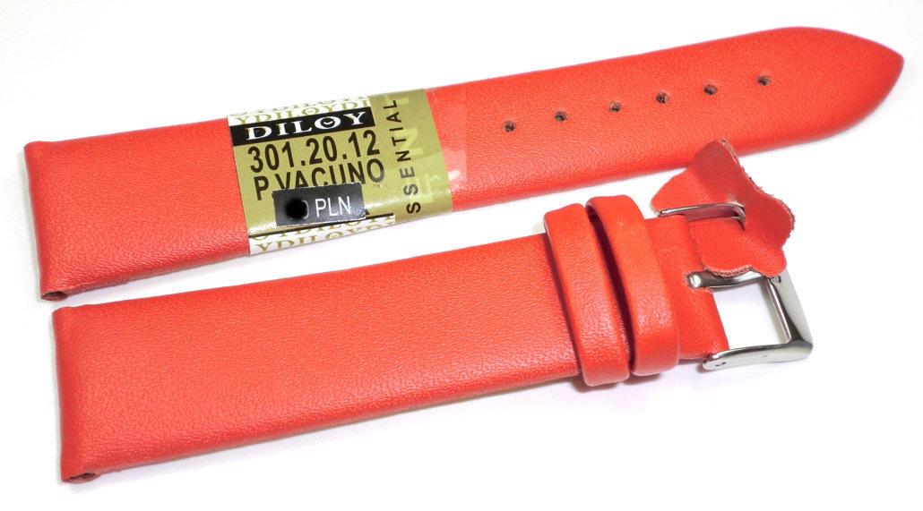 Skórzany pasek do zegarka 20 mm Diloy 301.20.12