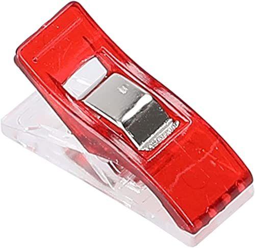 mumbi 30700 klamerki do materiału, tworzywo sztuczne, czerwone, 100 sztuk