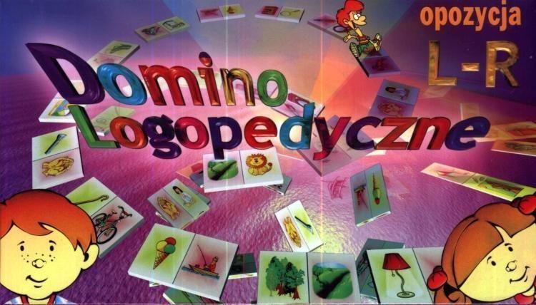 Gra - Domino logopedyczne L-R SAMO-POL ZAKŁADKA DO KSIĄŻEK GRATIS DO KAŻDEGO ZAMÓWIENIA