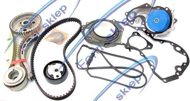 1.8 TDCi zestaw rozrządu + kaseta pompy wtry. + pompa wody (OE + INA)