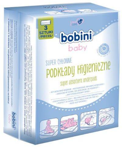 Bobini Baby podkłady higieniczne dla niemowląt i dzieci 3 sztuki