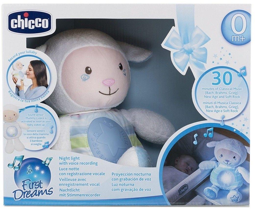 Chicco zabawki 074372 owieczka z nocną lampką niebieska