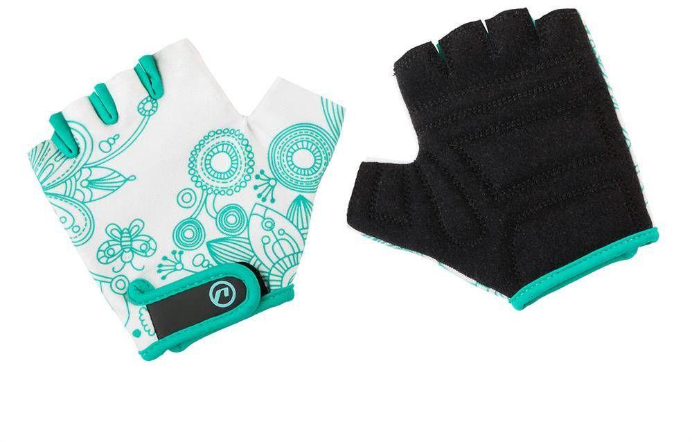 Rękawiczki dziecięce Accent Flowers Kids biało-zielone