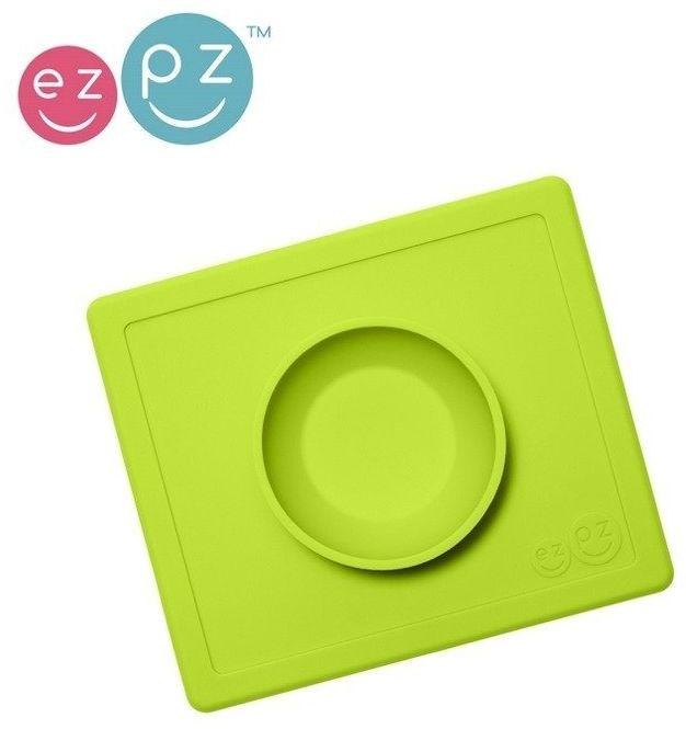 Silikonowa miseczka z podkładką 2w1 happy bowl zielona