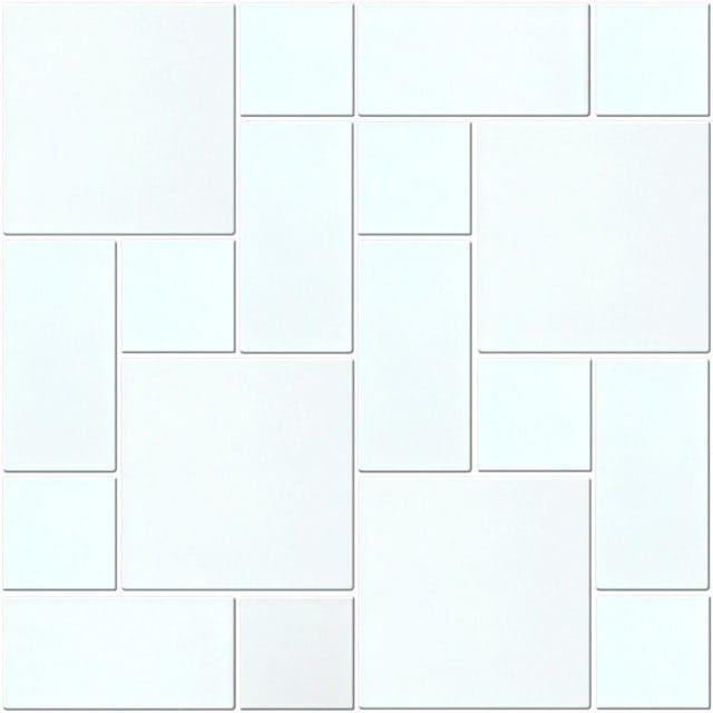 MIDAS - Mozaika szklana 6mm A-MGL06-XX-019 biała