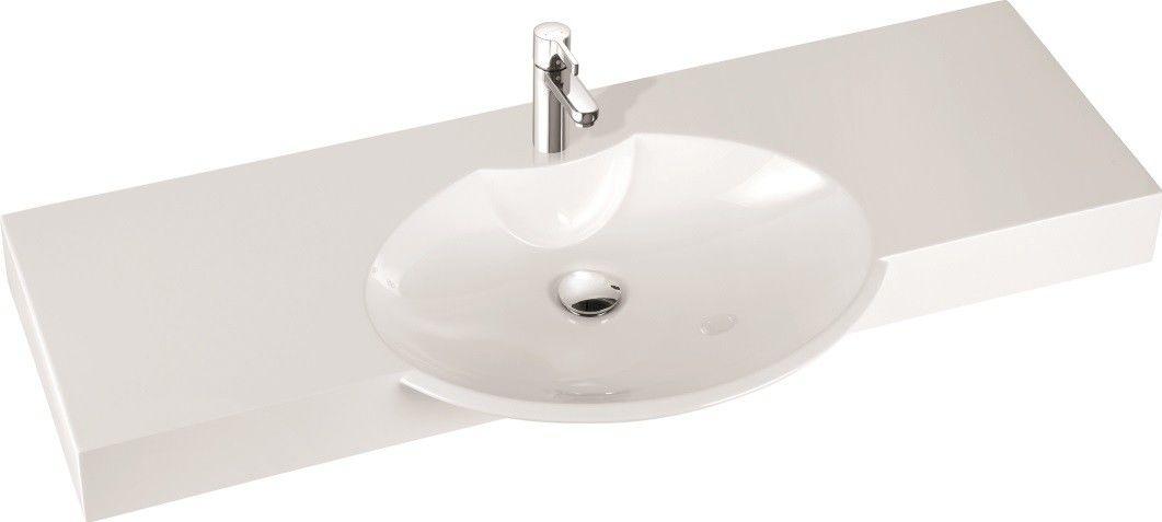 Marmorin umywalka nablatowa Carme 130, 130 cm z otworem biała 260 130 020 011 __DARMOWA DOSTAWA__