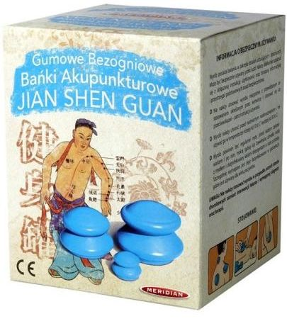 Jian Shen Guan bańki akupunkturowe gumowe bezogniowe 4 sztuki