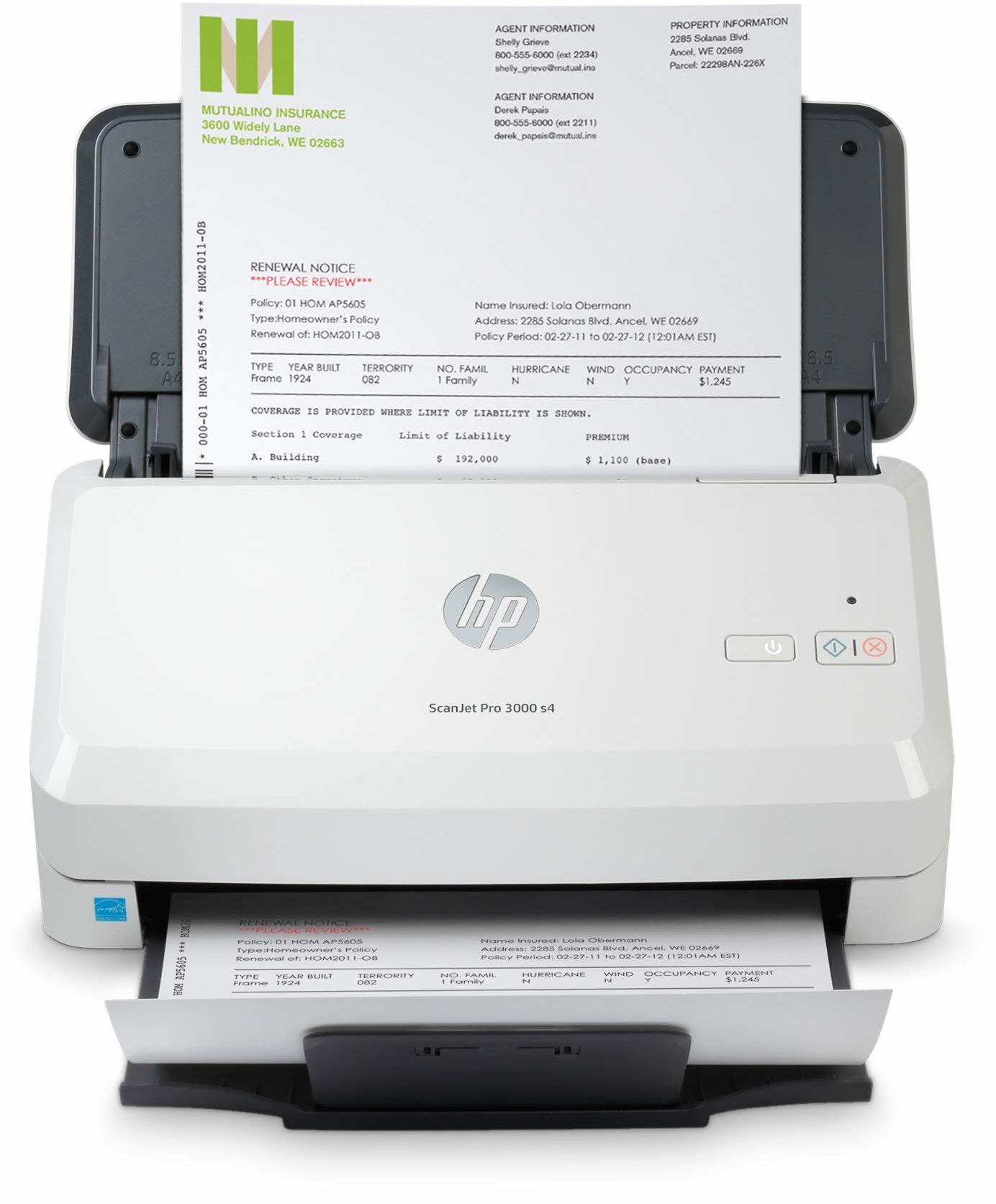 HP - Skanery OPS (4X) SCANJET PRO 3000 S4 USB 3.0 A4 kartridż 600DPI 24BIT IN