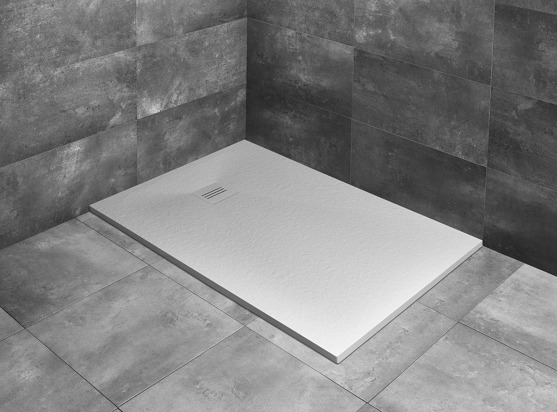 Radaway brodzik z konglomeratu Kyntos F biały 100x70 cm HKF10070-04