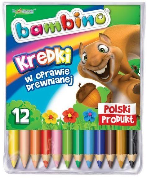 Kredki Bambino drewniane 12 kolorów
