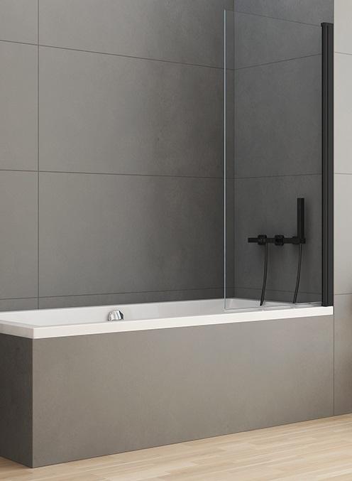 New Trendy New Soleo Black parawan nawannowy 70x140 cm przejrzyste P-0039