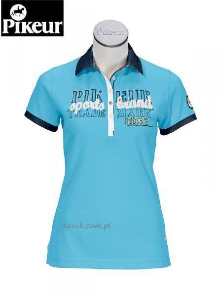 Koszulka polo Pikeur DARIA - turquise
