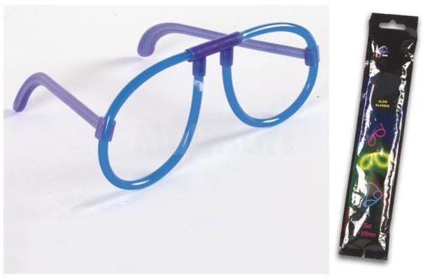 Świecące okulary niebieskie