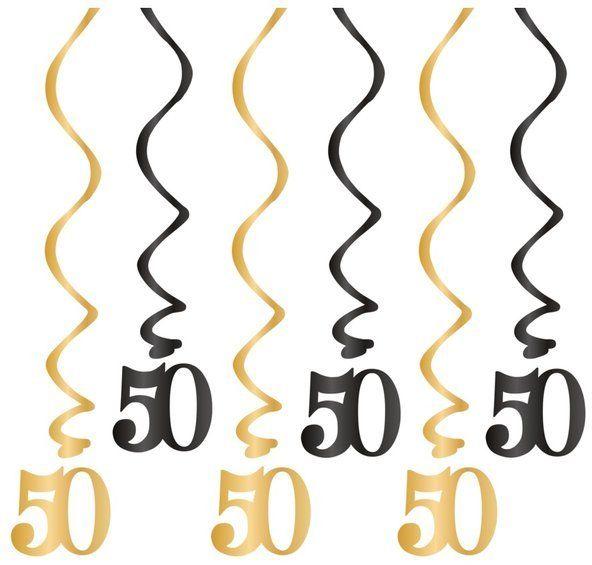 Dekoracja na 50 urodziny świderki 6 sztuk 512152