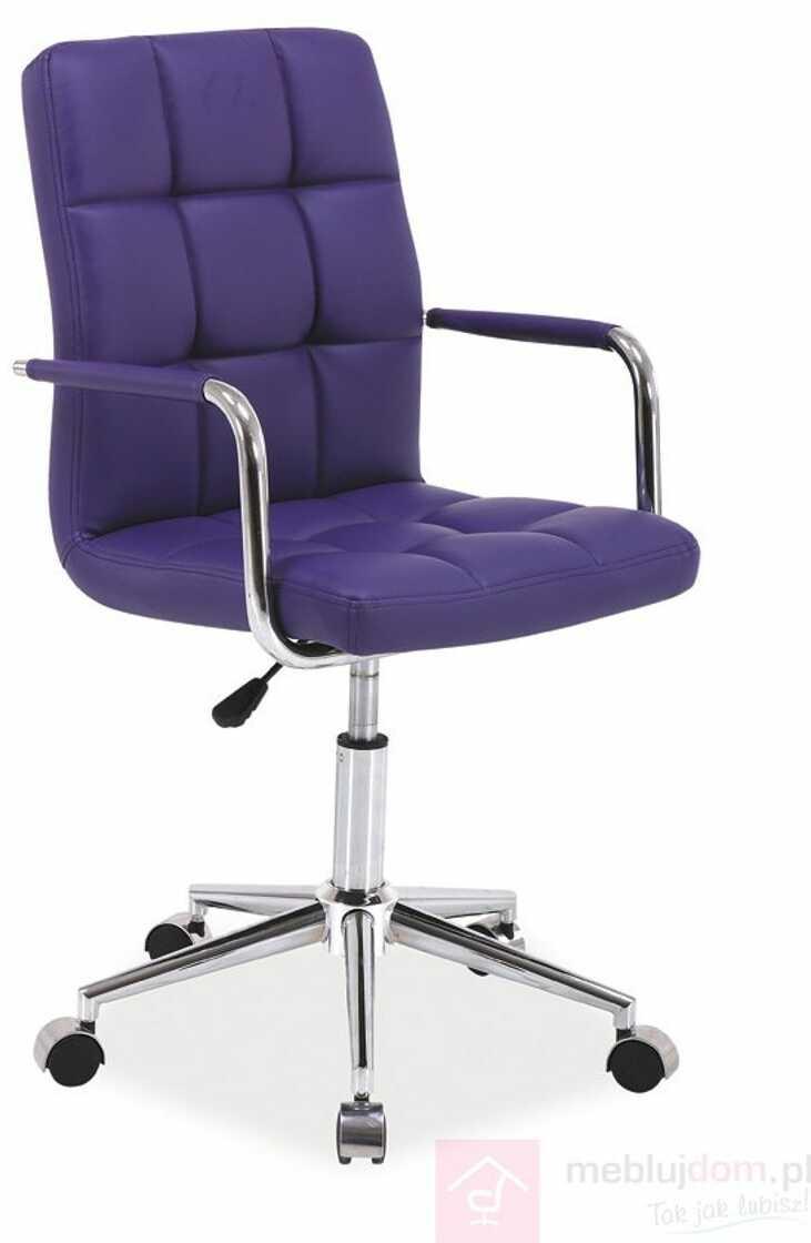 KUPON 10% NA STRONIE  Fotel obrotowy Q-022 Signal Fioletowy