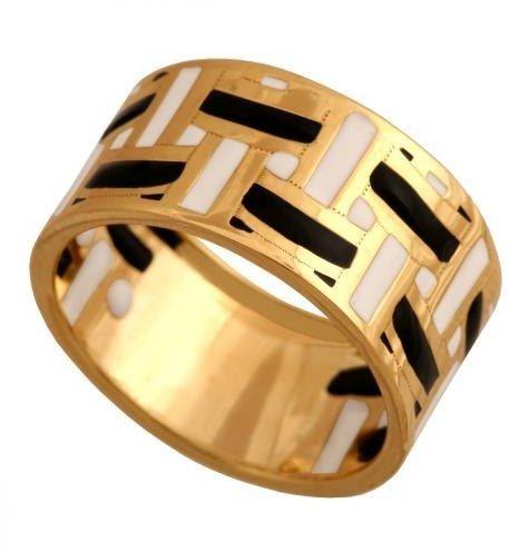 Złoty pierścionek nowoczesny Pn195