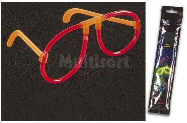 Świecące okulary czerwone