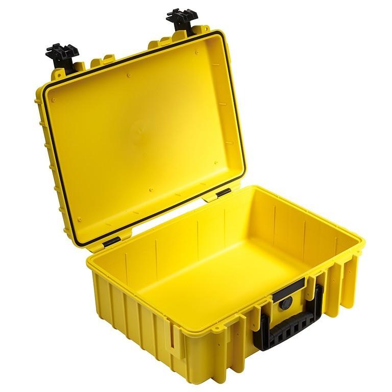 Walizka transportowa B&W outdoor.cases Typ 5000 bez wypełnienia Żółta