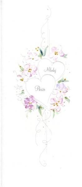 Karnet Ślub DL S28 - Młodej Parze