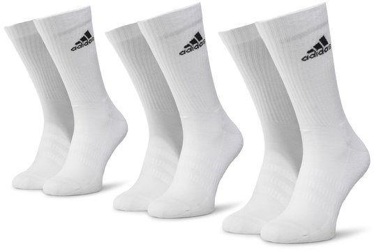 adidas Zestaw 3 par wysokich skarpet unisex Cush Crw 3PP DZ9356 Biały