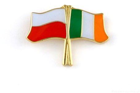 Flaga Polska - Irlandia, przypinka