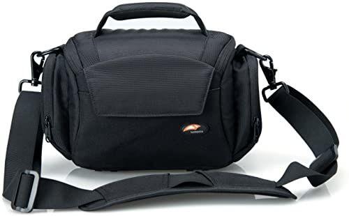 Dom DSLR/lustrzanka torba na aparat torba i listonoszka torba na ramię torba fotograficzna wodoodporna czarna do Nikon, Canon, Sony itp. (L)