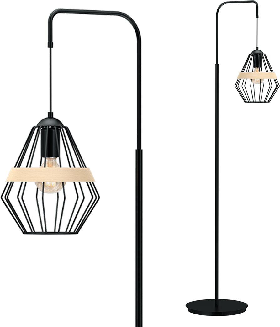 Lampa stojąca CLIFF BLACK 1xE27