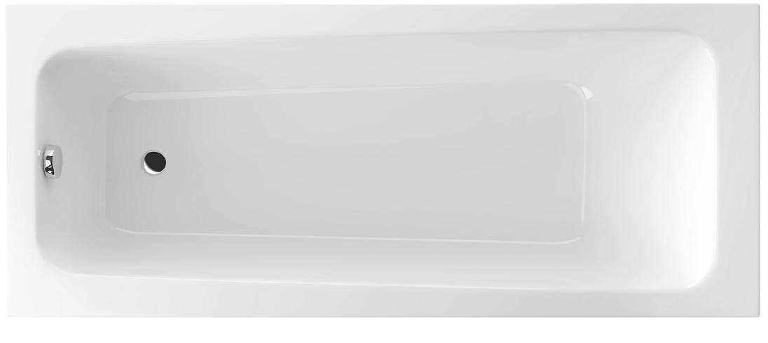 Wanna prostokątna Excellent AVA 150x70 biała z nogami WAEX.AVA15WH