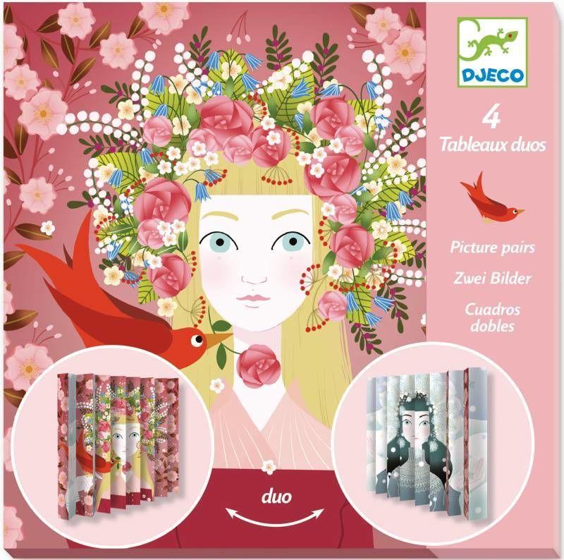 Papierowy zestaw artystyczny plisy Piękne królowe DJ09446-Djeco, zabawki kreatywne dla dziewczynek