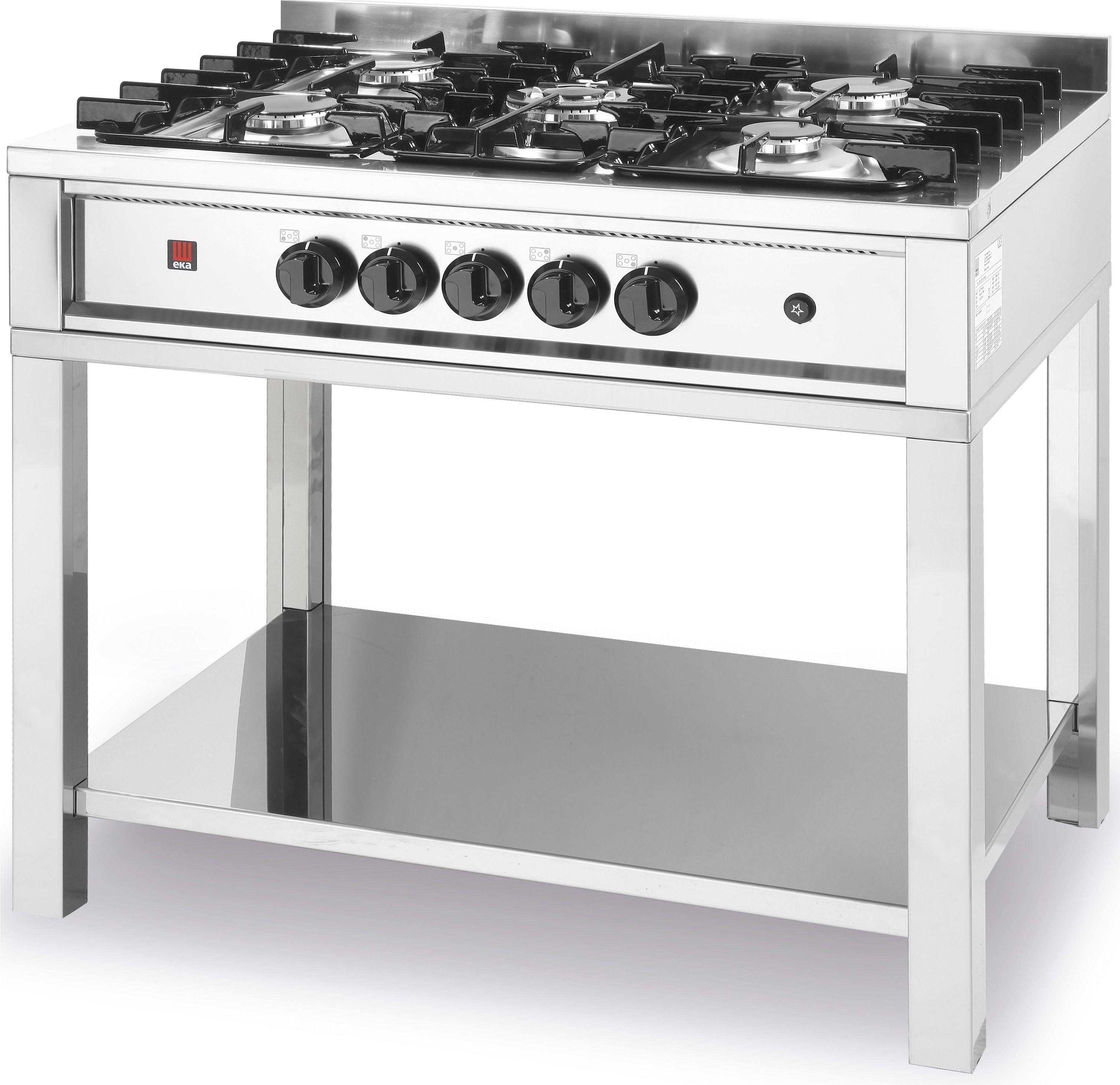 Kuchnia gastronomiczna gazowa 5-palnikowa Kitchen Line