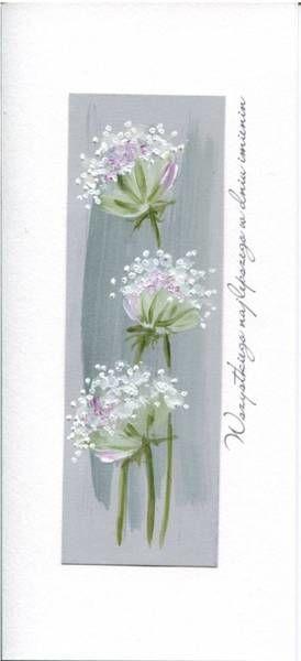 Karnet Imieniny I 03 - Białe kwiaty