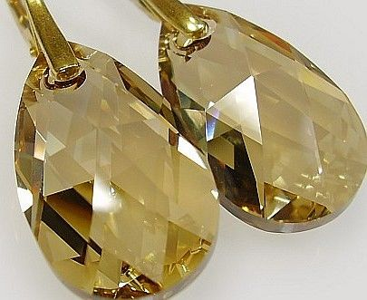 kolczyki Złote Srebro Swarovski 11 kolorów
