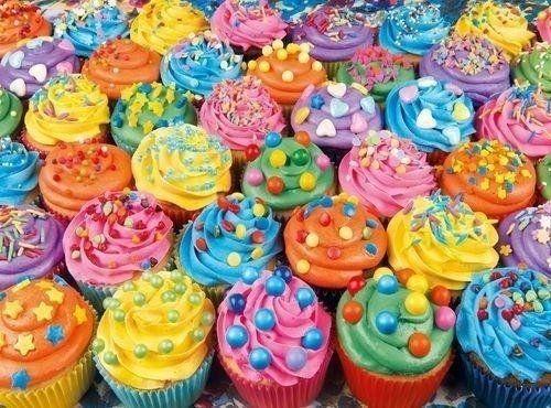 Puzzle 500 Colorful Cupcakes - Clementoni