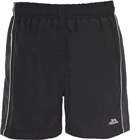 Trespass Brandon Black 3/4 szorty z wewnętrzną siateczką spodnie dla dzieci/chłopców w wieku 3-4 lat, czarne