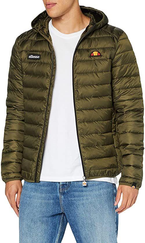 ellesse Lombardy męska kurtka z podszewką zielony khaki S