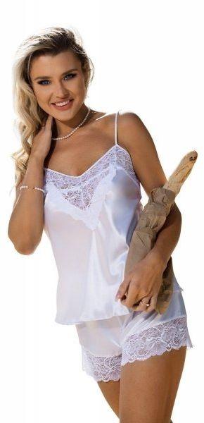 Piżama damska dkaren cynthia biały
