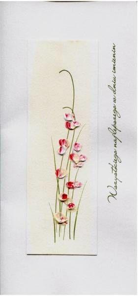 Karnet Imieniny I 01 - Czerwone kwiaty