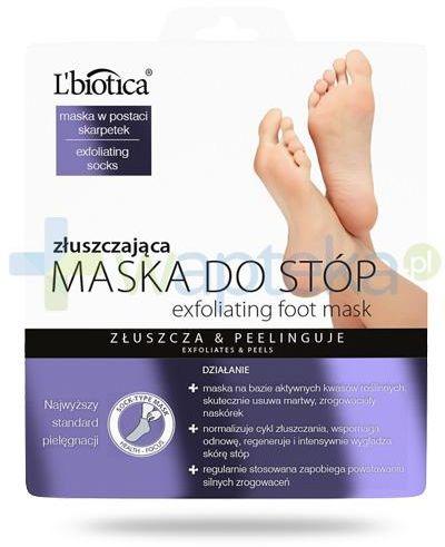 Lbiotica maska złuszczająca do stóp 40 ml