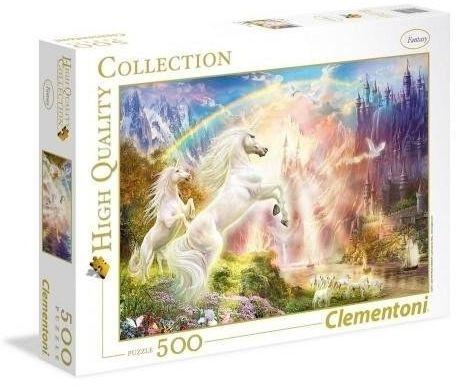 Puzzle 500 Sunset Unicorns - Clementoni