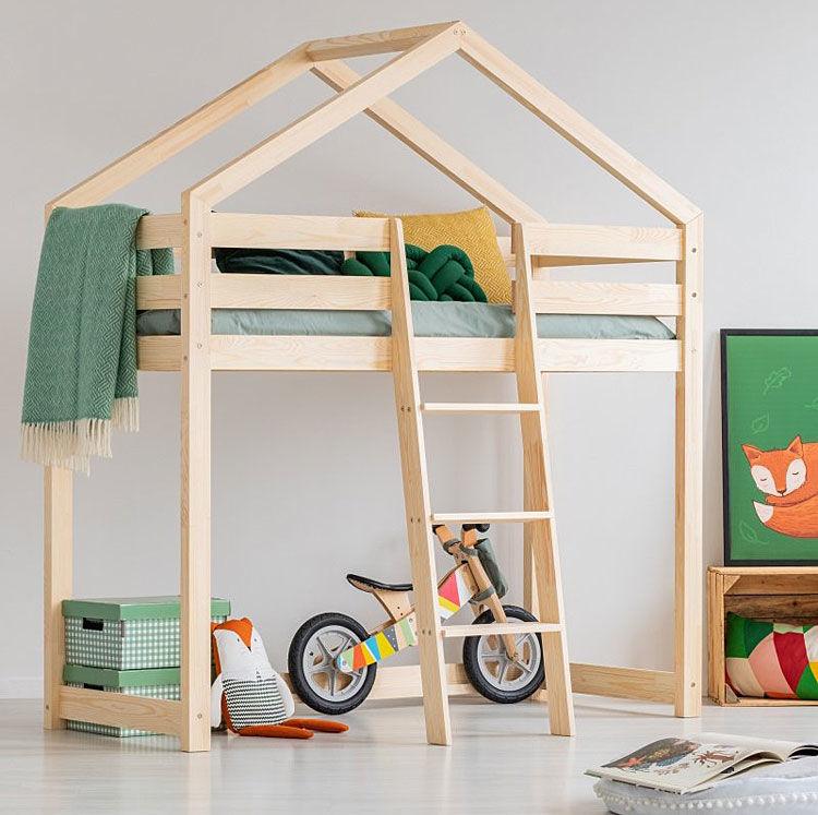 Piętrowe łóżko domek Miles 8X - 12 rozmiarów