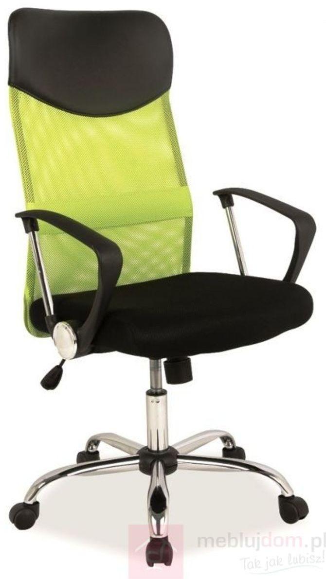 KUPON 10% NA STRONIE  Fotel obrotowy Q-025 Signal Czarno-limonkowy