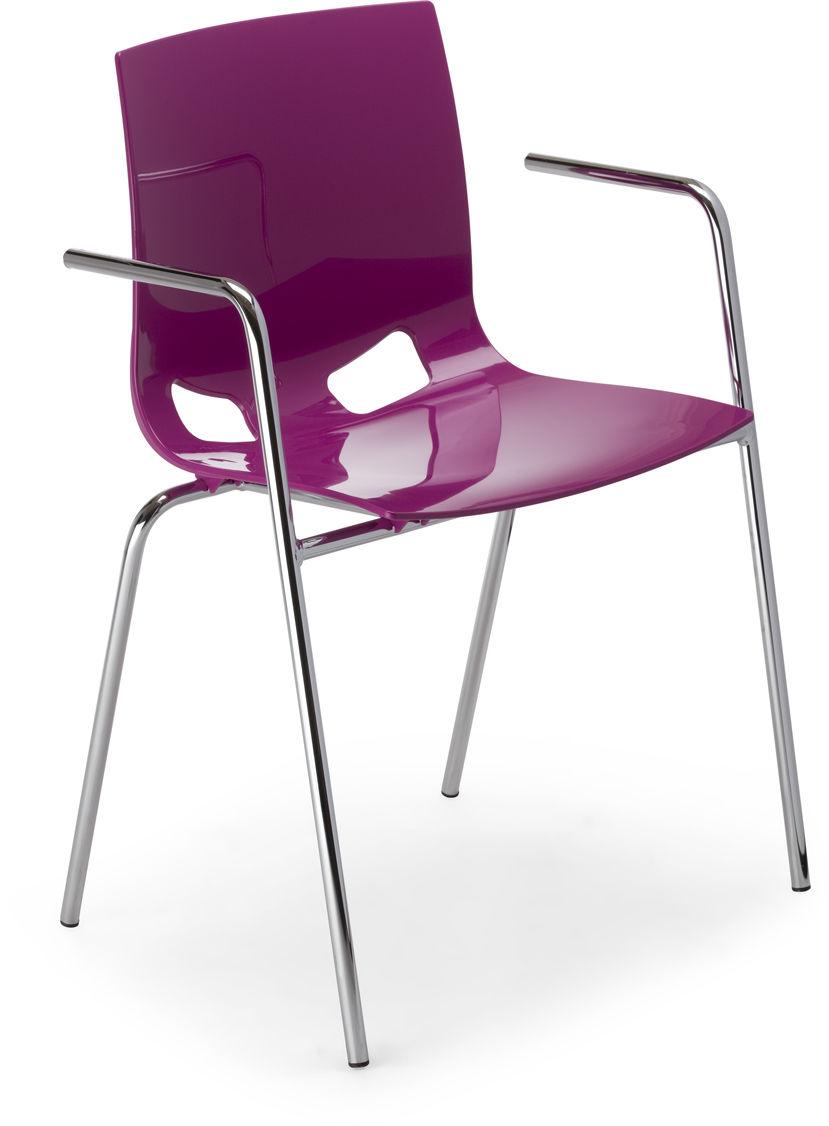 NOWY STYL Krzesło FONDO PP ARM alu/black