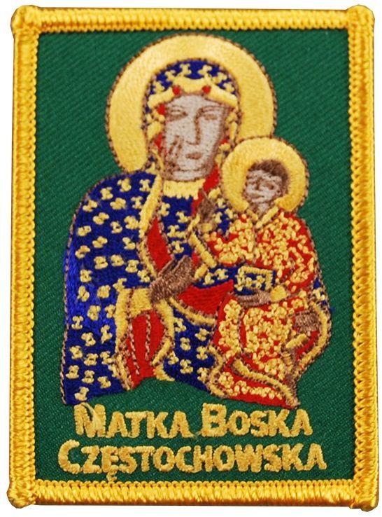 Naszywka haftowana Matka Boska Częstochowska