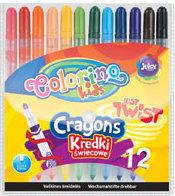 Colorino - Kredki świecowe wykręcane 12 kolorów 14076