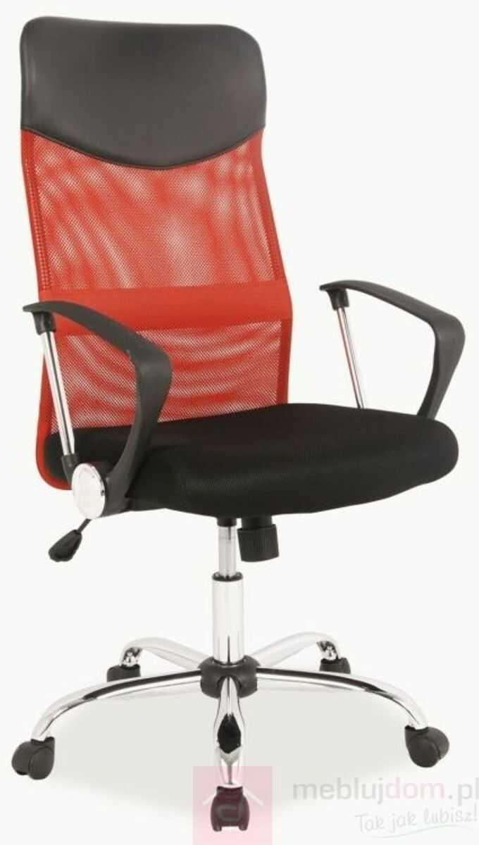 KUPON 10% NA STRONIE  Fotel obrotowy Q-025 Signal Czarno-czerwony
