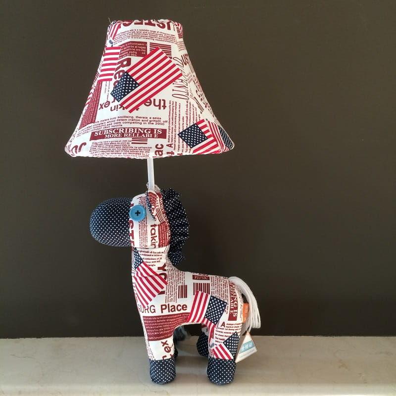 Lampka nocna dziecięca - Kolorowy konik mini