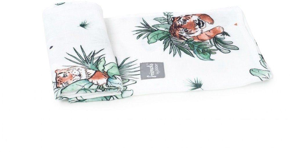 Poofi pieluszka bambusowa tygrysy