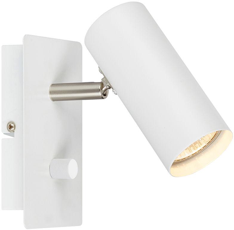 Markslojd kinkiet lampa ścienna Barcelona biały 107346 metalowa ze ściemniaczem - RABAT -15% w koszyku / 24h